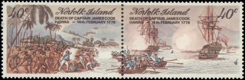 1979 Norfolk Islands #243a, 245a, Complete Set(2), Never Hinged