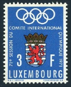 Luxembourg 499 block/4,MNH.Mi 826. Olympic Committee,1971.Pre-Munich-1972.Arms.