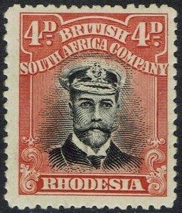 RHODESIA 1913 KGV ADMIRAL 4D DIE II PERF 14