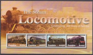 2005 Zambia 1562-1565KL Locomotives 8,50 €