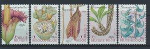 [BEL42] Belgium 2014 Flowers good set of stamps very fine MNH
