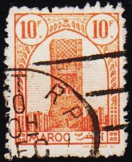 Morocco(French). 1943 10f S.G.280 Fine Used