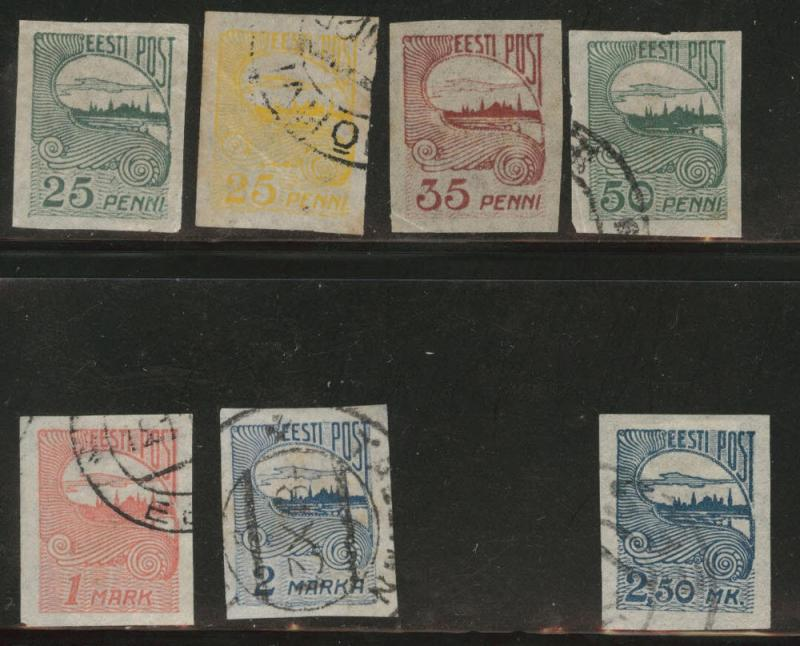 Estonia Scott 39-44, 46 short stamp set 1920-1924