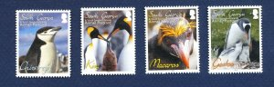 SOUTH GEORGIA - # C1-C4  - MNH - Penguin birds - 2010