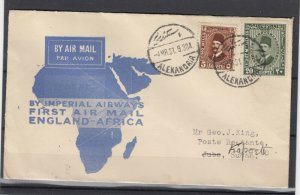 Egypt 1931 Imperial Airways First Airmail To Sudan Postal History JK4760