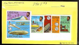 LIBERIA SC#742/747 Alex Bell Complete IMPERF Set ALL MNH