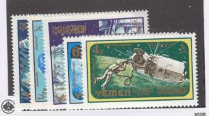YEMEN Mi 191-193A VF-MNH SPACE ISSUES CAT VALUE $28.50