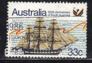 AUSTRALIA SC# 974 USED 33c 1986  SAILING SHIP  SEE SCAN