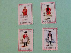 Barbuda - 215-18, MNH Set. Military Uniforms. SCV - $4.00