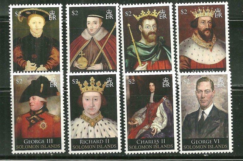 Solomon Islands MNH 1142-9 British Monarchs SCV 10.00