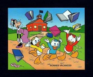 MALI - 1997- DISNEY - HUEY, DEWEY, LOUIE - GREETINGS - VACATION - MINT S/SHEET!