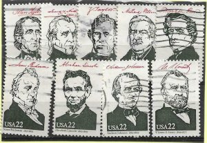 1986    UNITED STATES OF AMERICA  -  FROM SG. MS 2223b - PRESIDENTS - USED