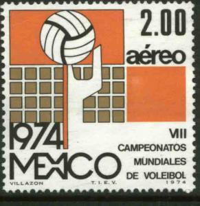 MEXICO C433, 8th World Volleyball Championship. MINT, NH. VF.