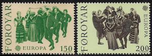Faroe Is #63-4 MNH Set - 1981 Europa - Dances