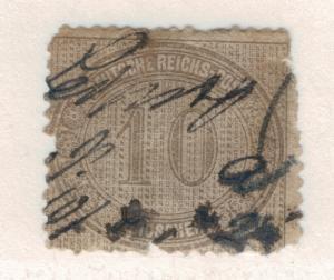 Germany Stamp Scott #12, Used, Pen Cancel - Free U.S. Shipping, Free Worldwid...