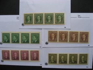 CANADA 5 different MNH coil strips of 4, well worth checking them out!
