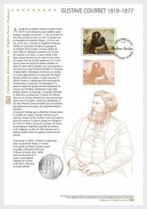 H01 France 2019 Gustave Courbet (1819-1877) Philatelic Document