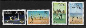 NAURU 97-100  MNH SHORT SET FLY FISHING 1973