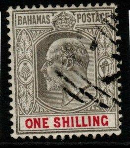 BAHAMAS SG67 1902 1/= GREY-BLACK & CARMINE FINE USED