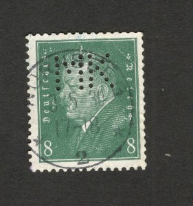 GERMANY -USED STAMP-PERFIN, PERFINS-1928.