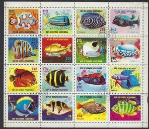Equatorial Guinea 74236-51 CTO sheet of 16  BIN $6.00