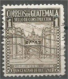 GUATEMALA, 1942, used 1c, Arch of Communications. Scott RA20