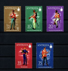 ANTIGUA - 1972 - BRITISH MILITARY UNIFORMS - PRIVATE - ARTILLERY + MINT MNH SET!