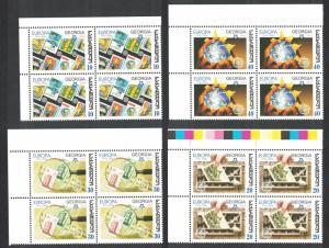 Georgia 50th Anniversary of Europa CEPT stamps 4v Corner Blocks SG#484-487