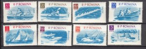 J27581 1962 romania set mh #1478-95 sports