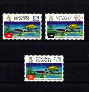 CAYMAN IS - 1972 - TURTLES - UNDERWATER CABLE - TELEPHONE - MINT - MNH SET OF 3!