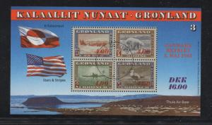 Greenland Sc 293-95 1995 America stamp sheets mint NH
