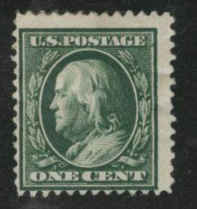 USA Scott 374 MH* Franklin single line watermarked stamp CV $6.50