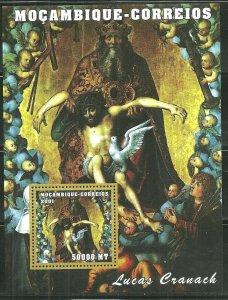Mozambique MNH S/S Lucas Cranach Religious Painting 2001