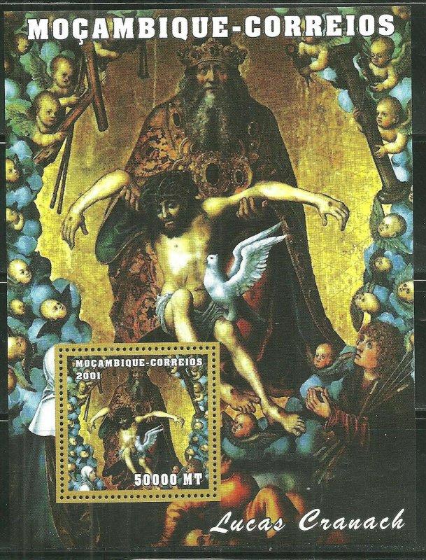 Mozambique MNH S/S Cranach Religious Painting