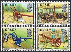 Jersey MNH 120-3 Farm Tools 1975