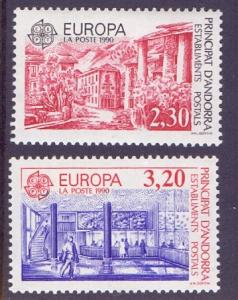Andorra French 1990 MNH Europe post office buildings complete