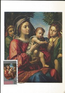 J) 1970 CHRISTMAS ISLAND, CHRISTMAS, THE VIRGIN AND CHILS ST JOHN THE BAPTIST AN