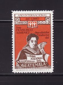 Guatemala 425 MNH Brother Francisco Ximénez (D)