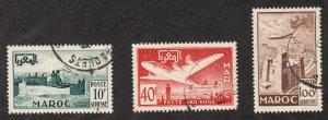 French Morocco - 1952 - SC C42-44 - Used - Short set