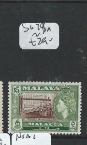 MALAYA MALACCA (PP2607B) QEII $5.00   SG 49   MNH