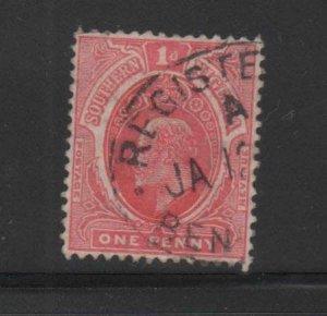 SOUTHERN NIGERIA #33  1907  1p  KING EDWARD VII       F-VF USED  b