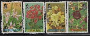 SWAZILAND 588-591 (4) set,  Hinged, 1991 Flowers