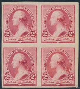 #220P5 BLK/4 IMPERF ON STAMP PAPER WITHOUT GUM BR9012A