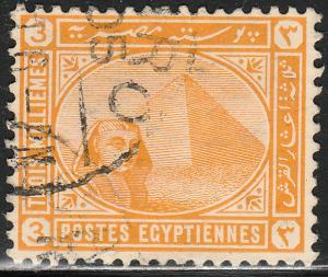 EGYPT 45, 3m GIZA SPHYNX AND PYRAMIDS.USED.  F. (306)