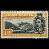 ASCENSION 1949 - Scott# 41Ab Mountain P.14 1p Used