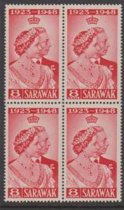 Sarawak Sc#174 MNH Block of 4