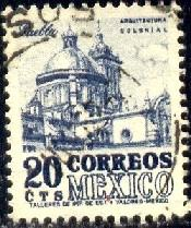 Puebla Cathedral, Mexico stamp SC#860 used