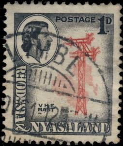 RHODESIA & NYASALAND - 1961 - SG19 CANCELLED LIMBE GCR TYPE DATE STAMP