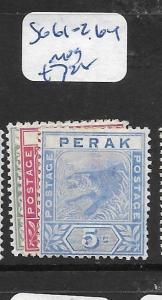 MALAYA  PERAK   (PP2305B)  TIGER   1C- 5C  SG  61-2, 64     MOG