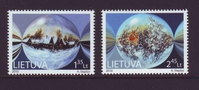 Lithuania Sc 928-9 2010 Christmas stamps mint NH